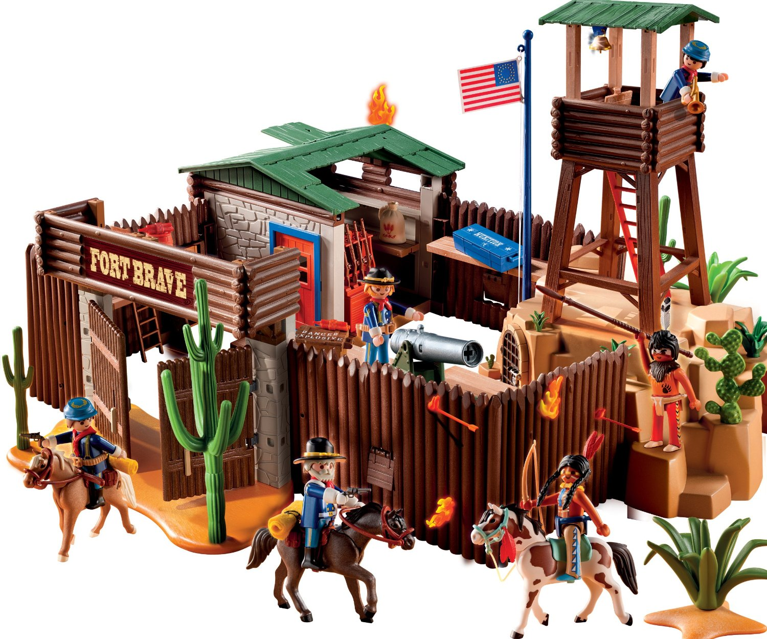 Fuerte del oeste de playmobil en oferta for Plan chateau fort playmobil