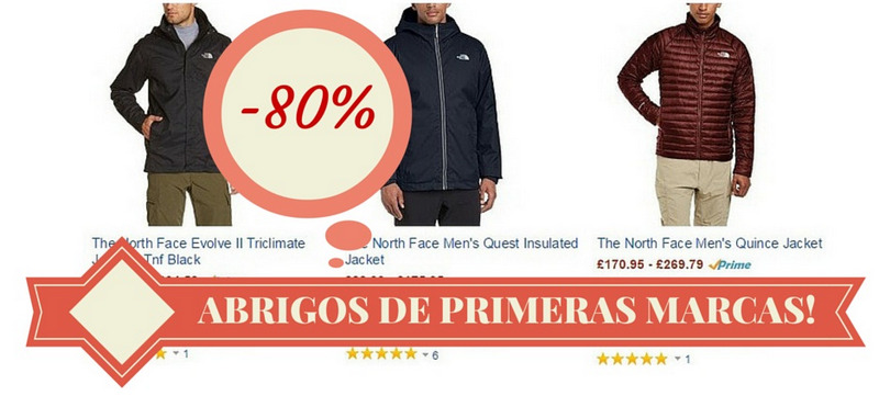 Comprar abrigos the north face baratos