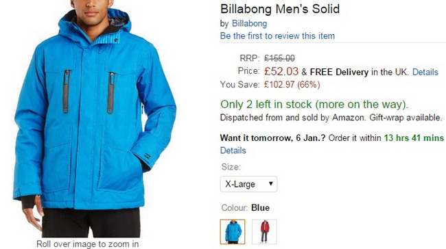 Comprar billabong abrigo ski ofertas amazon