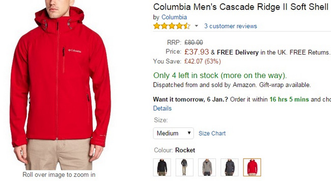 Comprar chaqueta columbia ski rebajas