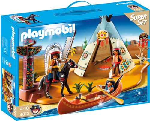 playmobil campamento indio superset