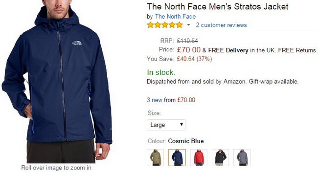 Comprar The North Face chaqueta ski oferta