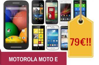 Chollo Motorola Moto E Libre por sólo 79€