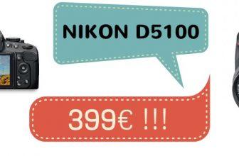 Cámara Nikon D5100 + Objetivo 18-55mm VR sólo 399€
