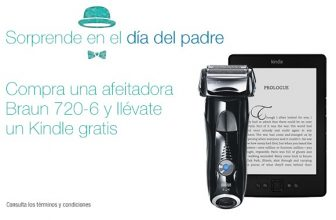 Kindle de regalo con compra afeitadora Braun. Chollo 2×1!!
